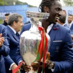 Euro2020: Éder na cerimónia de entrega do troféu ao novo campeão europeu